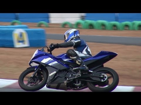 YAMAHA YZF-R15 and R125 race track