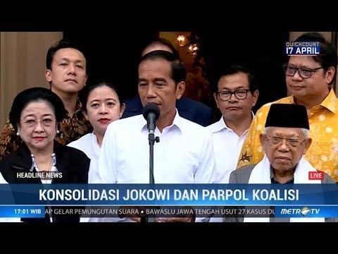 Jokowi Sampaikan 'Pidato Kemenangan' Atas Hasil Final Quick Count
