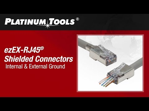 How to Terminate Shielded ezEX-RJ45 Connectors