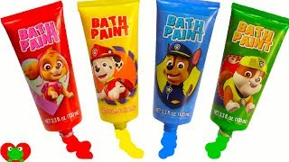 Learning Video For Kids Paw Patrol Color Changes with Finger Paints