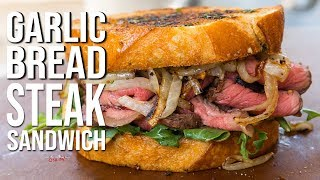 Garlic Bread Steak Sandwich | SAM THE COOKING GUY
