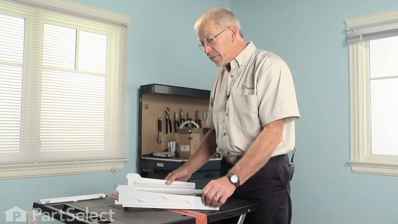 Replacing your Whirlpool Refrigerator Pan Slide Track