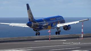 Magnificent Eurowings Special livery Europa Park A320 in Madeira