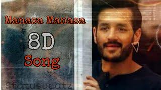 #mosteligiblebachelor #sidsriram Manasa Manasa 8D song |Most Eligible Bachelor||Statusbeatz||