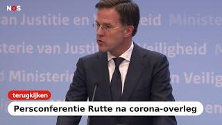 TERUGKIJKEN: Premier Rutte na crisisoverleg over coronavirus: schud geen handen meer