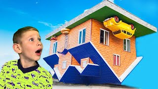 Lev and Gleb go to Playhouse upside down for children