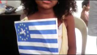 A young girl sings National Anthem of Ambazonia