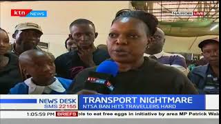 Travelers remain stranded at Nairobi easy coach offices due to NTSA night travel ban