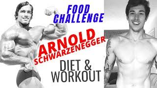 I Ate Like ARNOLD SCHWARZENEGGER - His Diet & Workout - Man VS Food Challenge
