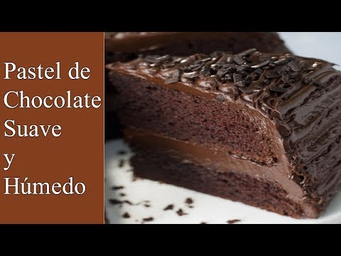 RECETA DE PASTEL DE CHOCOLATE ESPONJOSO, SUAVE Y HUMEDO (SUPER MOIST)