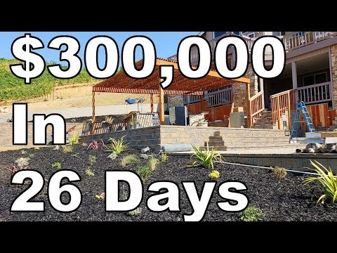 , title : '$300,000 Landscaping Job In 26 Days (Luxury Landscape Construction)