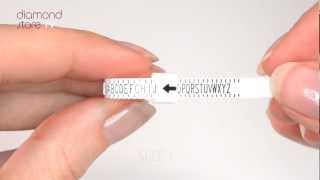 How To Measure You Finger Size - TheDiamondStoreUK  Ring Size Tool