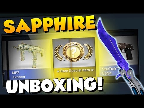 CS:GO - BUTTERFLY KNIFE SAPPHIRE UNBOXING! (MY BEST KNIFE EVER)