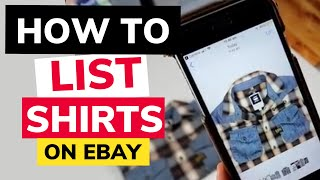 How To List Shirts On eBay Our Full Process - Comps Measurements, Listing and Photos