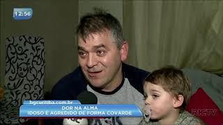 Idoso é agredido sem motivo na região central de Curitiba