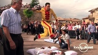 video thumbnail for Baby Jumping Festival in Spain