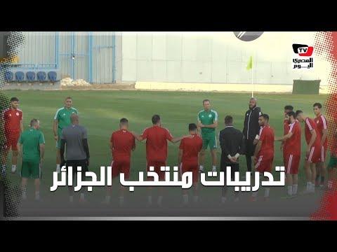 التدريبات الأخيرة للمنتخب الجزائري بـ«بتروسبورت» قبل نهائي أمم أفريقيا
