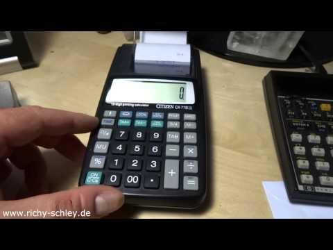 Tischrechner mit Datum Zeit Druckfunktion