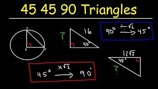 45-45-90 Triangles For SAT & ACT Math - Trigonometry & Geometry