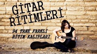 (1-16) 94 TANE GİTAR RİTİM KALIPLARI / Gitarda Farklı Ritimler Kullanmak