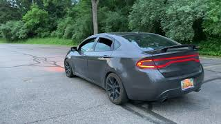 "FULLY CUSTOM 2014 Dodge Dart Exhaust | | 2.5"" Full Straight Pipe, 3"" Y Pipe, 3"" Tips"