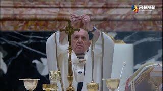 Papa Francisc a oficiat Slujba de Paşte