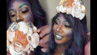 Mermaid Siren Halloween Makeup Idea 2018 Quick Easy Glam