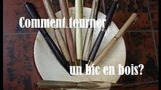 Tournage d'un bic en bois // How to turn a wood pen?