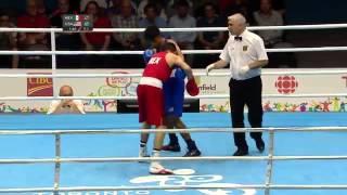60kg Lindolfo Delgado MEX vs Carlos Balderas USA   BOXEO   TORONTO 2015   Quaterfinals