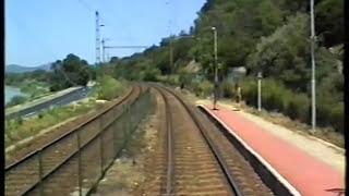 preview picture of video '1995.07.09. MÁV 70-es vasútvonal (Vác-Szob alsó között BDV vezetőállásból)'