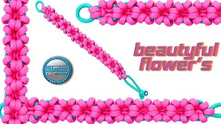 How To Make Paracord Bracelet Beautiful Flowers Macrame Bracelet World Of Paracord Tutorial DIY