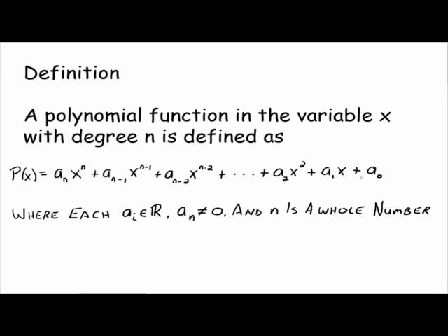 Definition Of A Polynomial Function