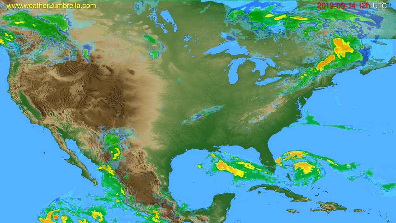 Radar forecast USA & Canada // modelrun: 00h UTC 2019-09-14