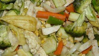 Овощи запеченные в духовке маринованные очень вкусные. Диетический рецепт