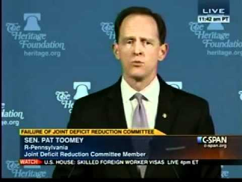 Sen. Toomey speaks to Heritage Foundation - Part II