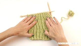 How to Knit 1 x 1 Rib Stitch (knitting)