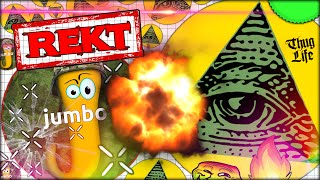 AGARIO JUMBO GOT REKT! ILLUMINATI BODIL40 KILLS JUMBO IN AGAR W/ 35 000 MASS (Agar.io #128)