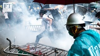 On the ground at the Hong Kong protests
