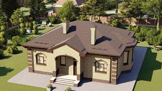Проект дома 108-C, Площадь дома: 108 м2, Размер дома:  13,9x11,6 м