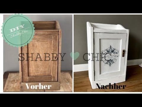DIY - Schrank im Shabby Chic streichen - Vintage Look - Shabby Chic selber machen