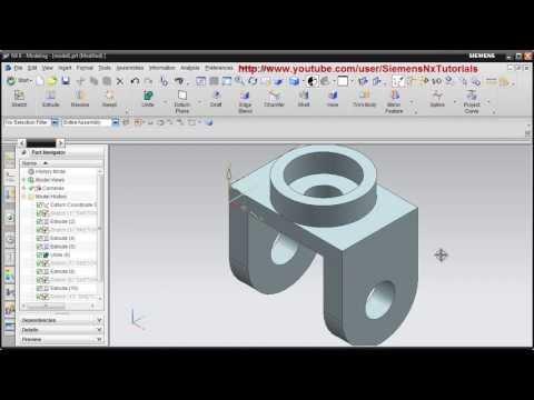 Siemens Nx CAD Basic Modeling Training Tutorial for Beginner - 1 ...