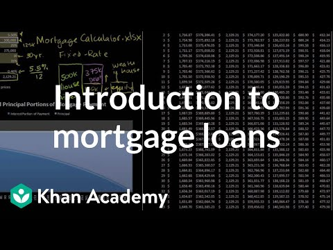 Introduction to mortgage loans (video) Khan Academy