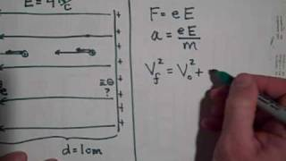 The Motion of Charge Particles in Uniform Electric Fields