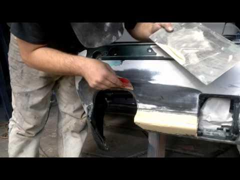 Ян:) Ремонт Бампера BMW M5 стекловолокном 2\2