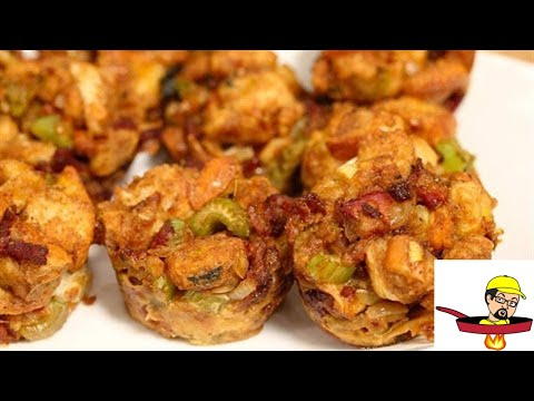 Bourbon Bacon Sage Stuffing Muffins – THANKSGIVING