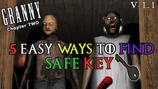 ALL LOCATION OF SAFE KEY IN GRAANY CHAPTER 2 | GRANNY CHAPTER 2 | GAME TOWN