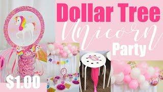 DIY Unicorn Party Decor Under $30!! (Kids Birthday Party Ideas) Ll ORGANIC BALLOON GARLAND