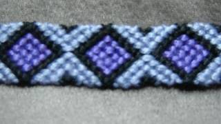 Diamonds - Friendship Bracelet Tutorial ( Original )
