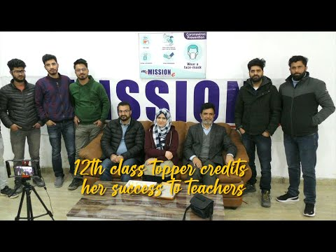 12th class topper credits her success to teachers