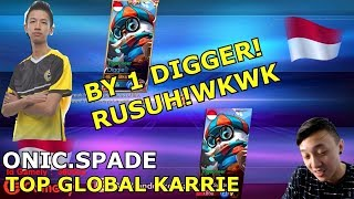 TOP GLOBAL BANE VS TOP GLOBAL KARRIE! WKWKWK